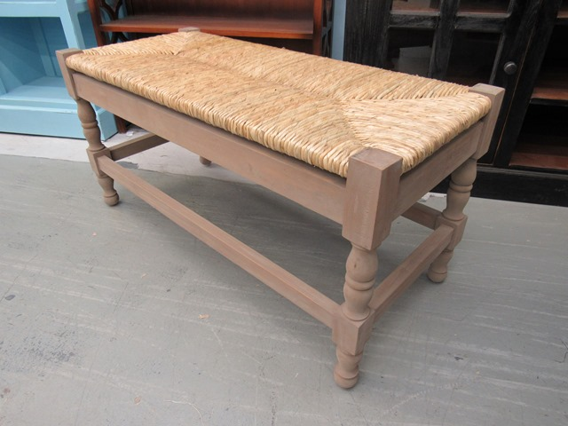 Bench With Rush Seat Nadeau Houston