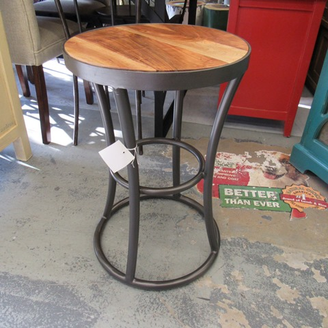 Iron and wood side table nadeau houston for Iron and wood side table
