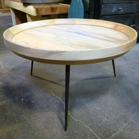 Iron Leg Round Coffee Table Nadeau Houston
