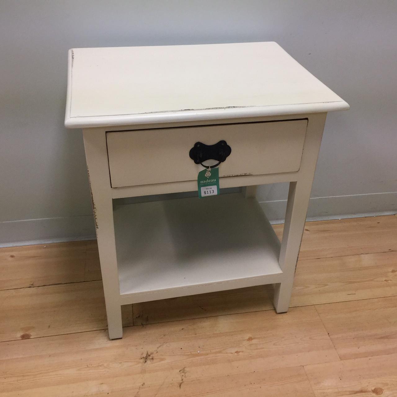contemporary nightstand - contemporary nightstand with shelf nadeau minneapolis