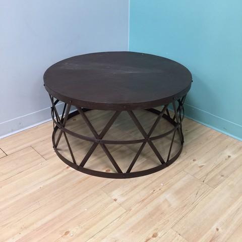 round metal coffee table nadeau minneapolis. Black Bedroom Furniture Sets. Home Design Ideas