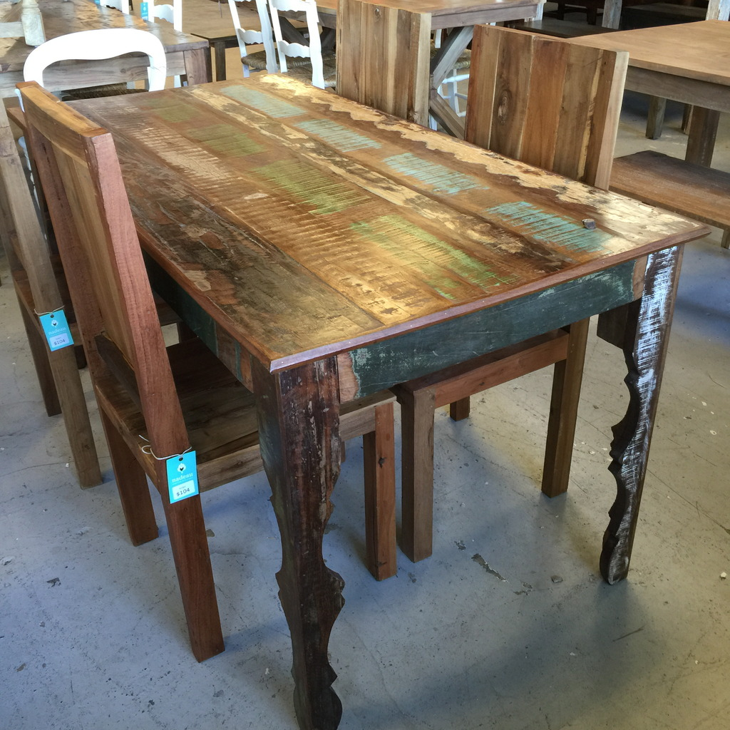 Wood Dinette Tables ~ Reclaimed wood dining table nadeau nashville
