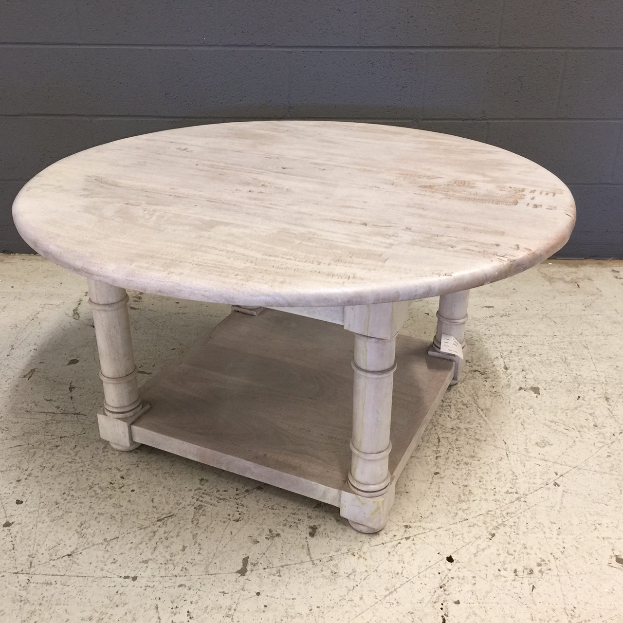 Round Coffee Table With Shelf Nadeau Nashville