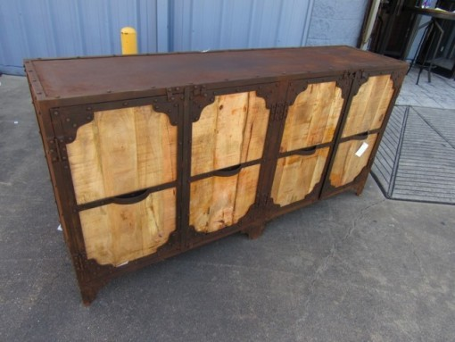 Iron And Wood Buffet ~ Four door iron and wood buffet nadeau nashville