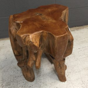 Ti228_teak stool abstract