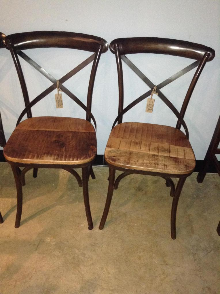 X Back Metal Chair With Wood Seat Nadeau Nashville