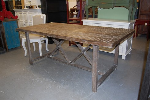 Trestle dining table nadeau nashville for Dining table nashville tn