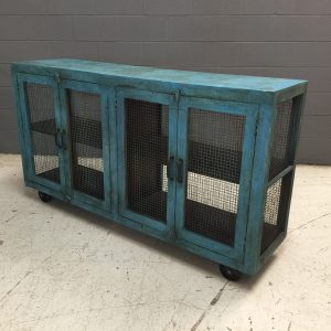 NJ356_4DOOR SIDEBOARD CHICKEN WIRE