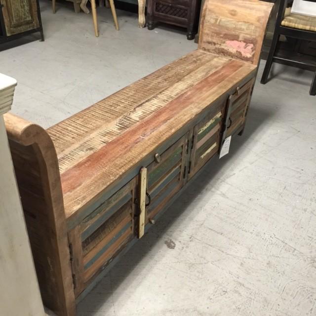 Reclaimed Wood Bench Nadeau Nashville