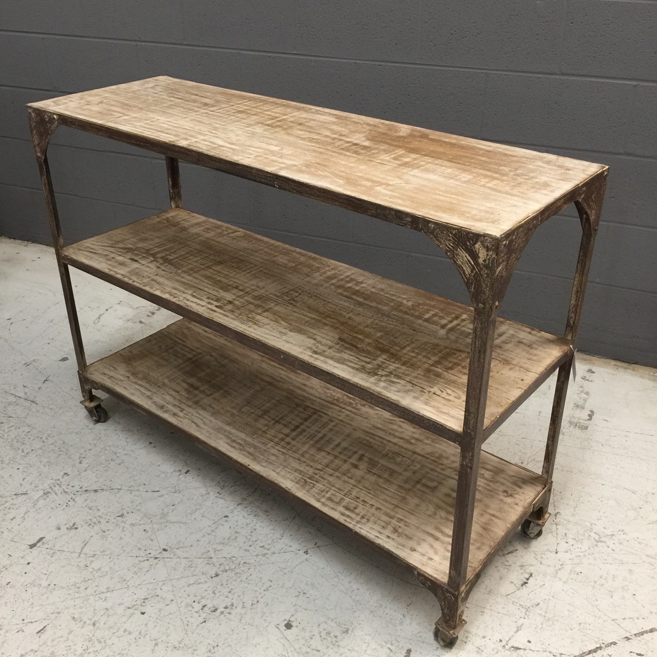Iron and wood console table nadeau nashville for Wood and metal console table