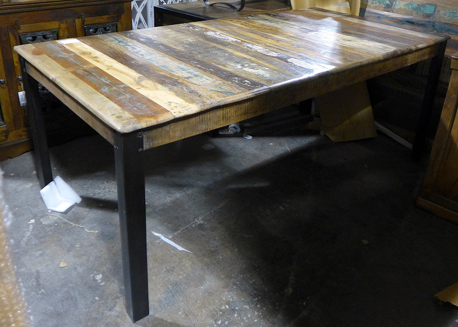 Iron and Wood Dining Table Nadeau Nashville