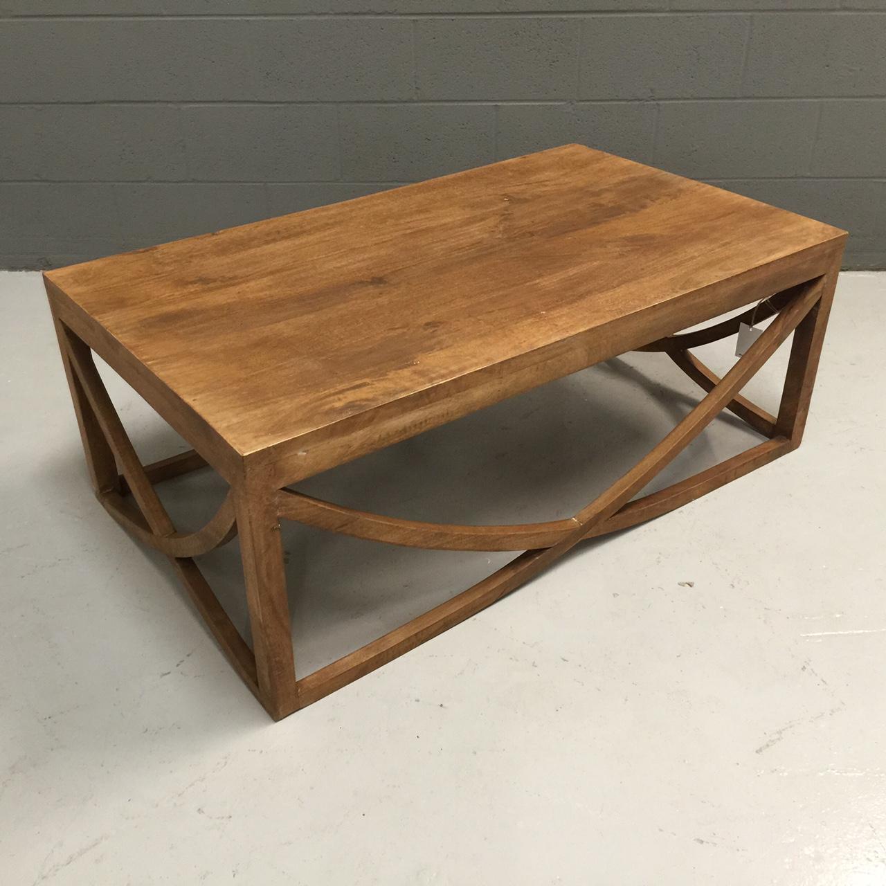 U Shape Cross Coffee Table