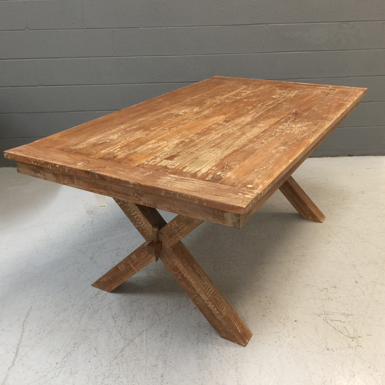 Cross leg dining table nadeau nashville cross leg dining table watchthetrailerfo