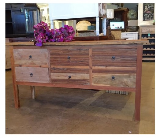 Six-Drawer Console Table