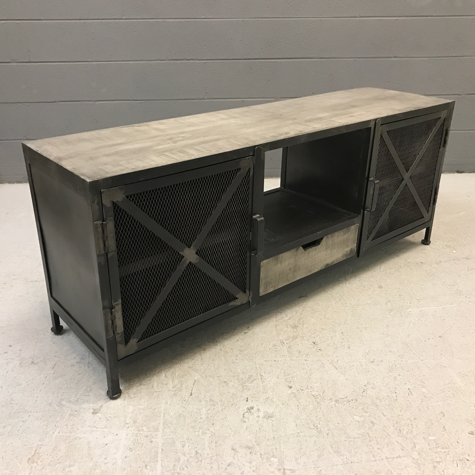 Iron And Wood Tv Stand Nadeau Nashville