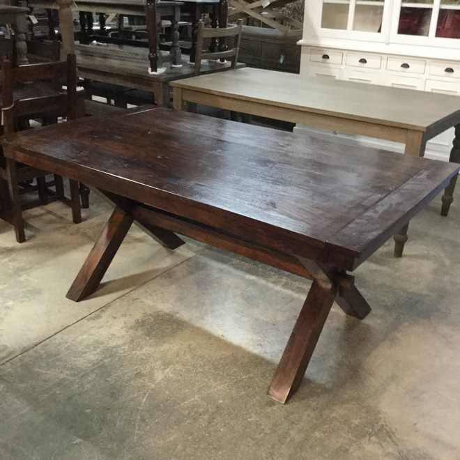 Cross leg dining table nadeau birmingham cross leg dining table watchthetrailerfo