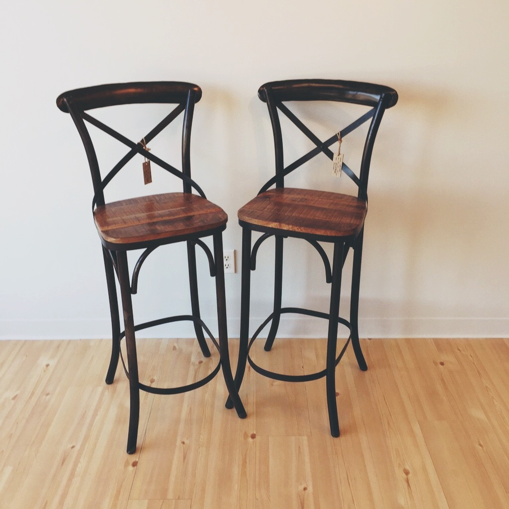 Amazing photo of Back Bar Stool with Wood Seat Nadeau Birmingham with #8D613E color and 1024x1024 pixels