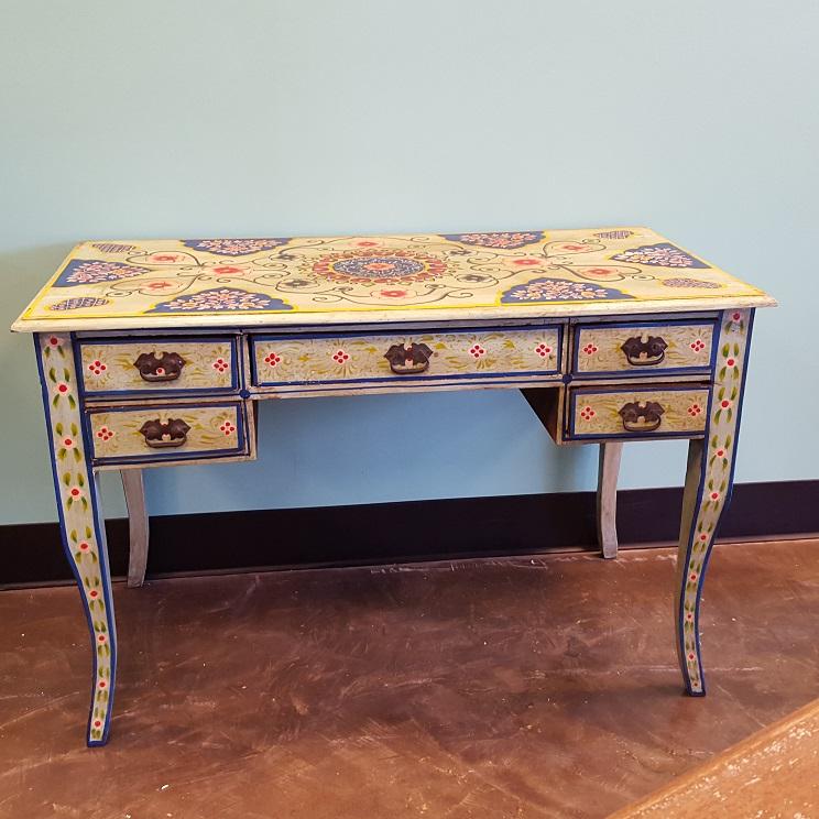 Painted Desk hand painted desk - nadeau memphis
