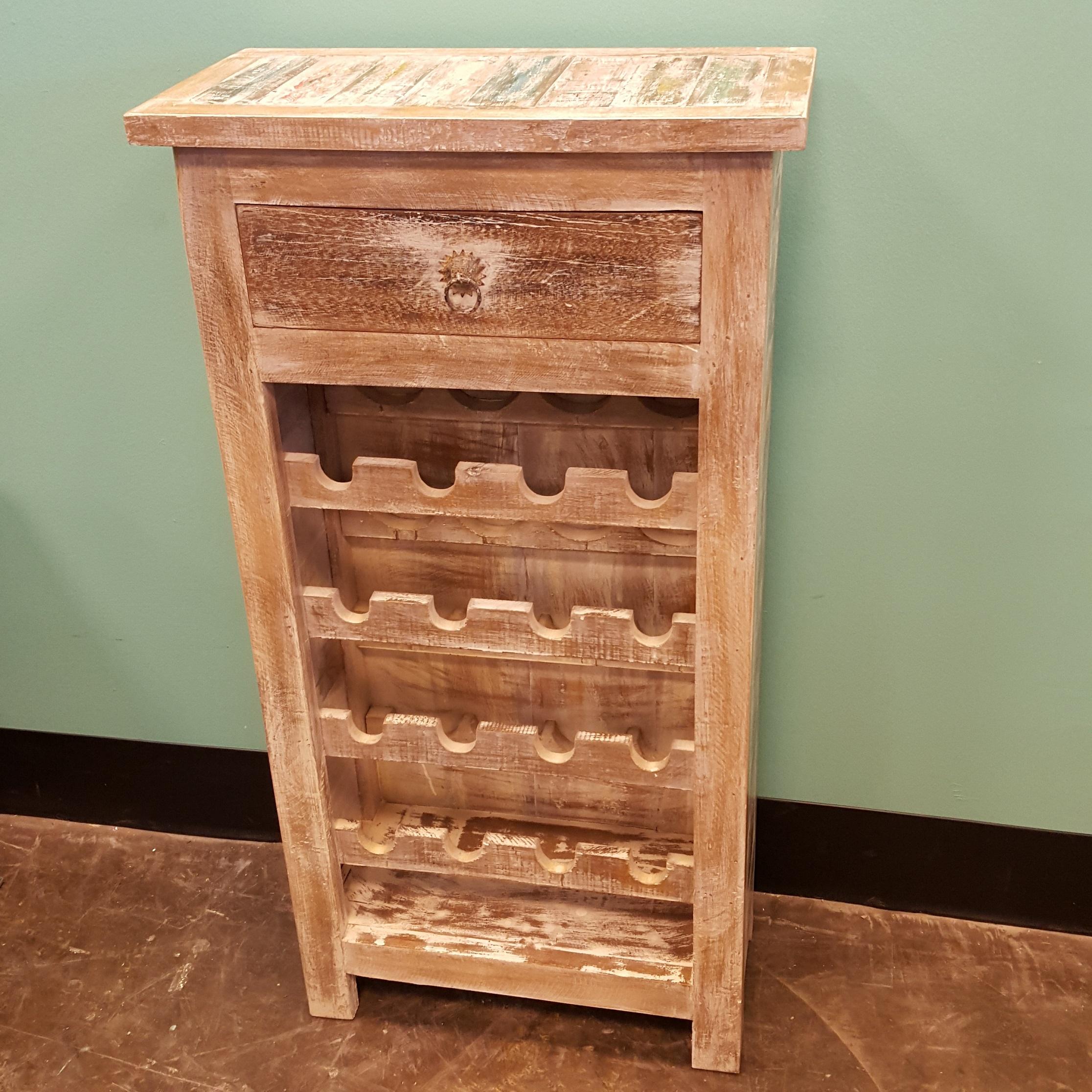 Reclaimed wood wine rack nadeau memphis