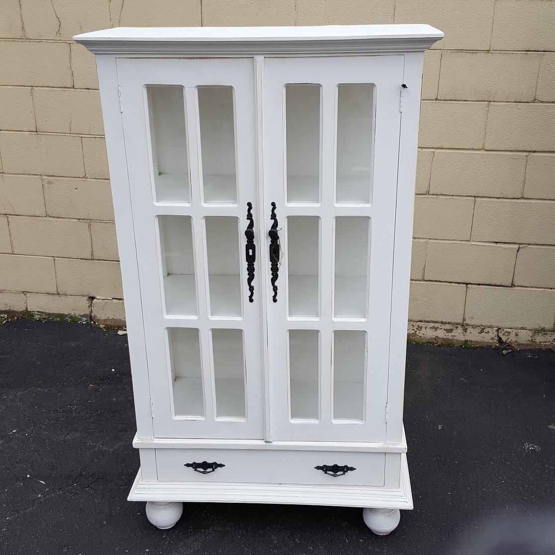Small Gothic Cabinet with Bun Feet - Nadeau Memphis
