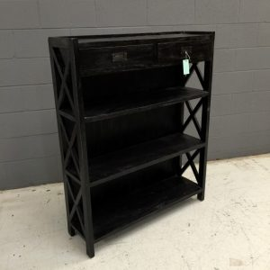 A339-X-LOW-BOOKCASE-BLACK (Custom)