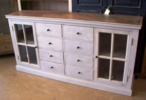 ka516 Buffet with 6 drawers and 2 glass doors $878