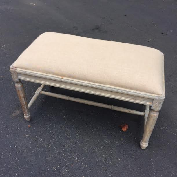 Small Upholstered Bench With Fluted Legs Nadeau Indianapolis