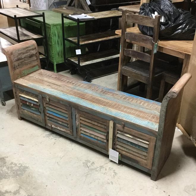 Reclaimed Wood Bench - Reclaimed Wood Bench - Nadeau Indianapolis