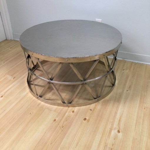 Round Metal Coffee Table Nadeau Paramus