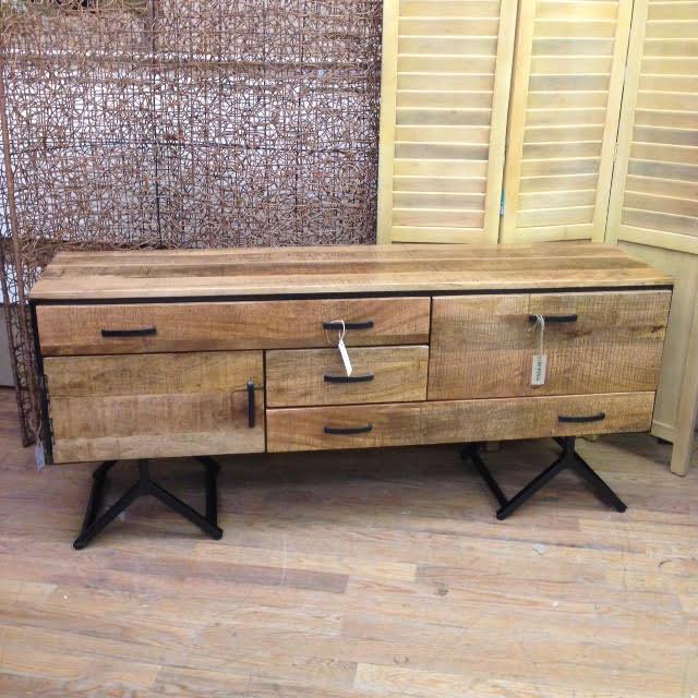 Iron And Wood Buffet ~ Iron and wood buffet nadeau paramus