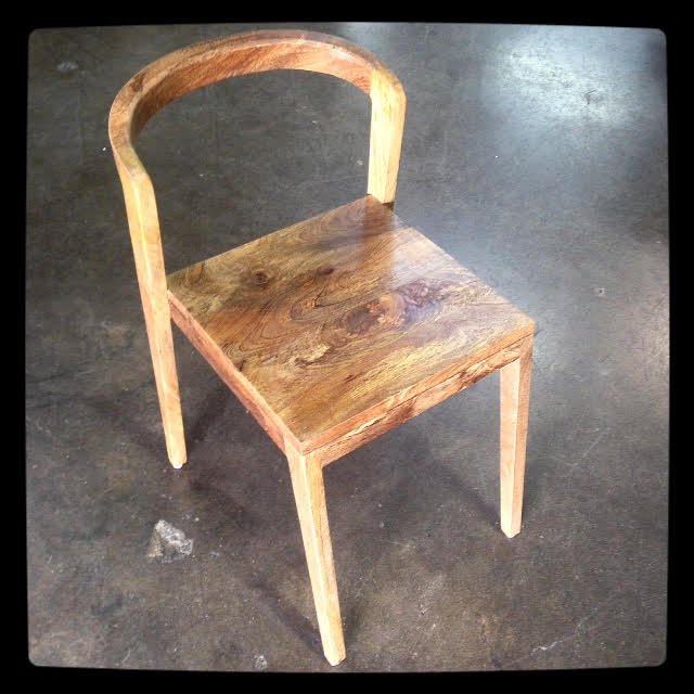 W Round Back Wooden Chair Nadeau Paramus