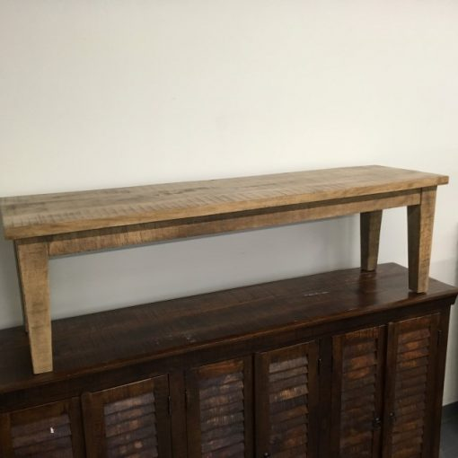 Wood Bench with Tapered Leg