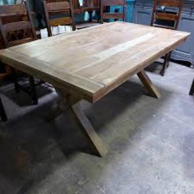 cross leg dining table nadeau tampa