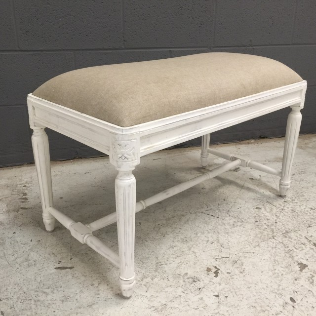Small Upholstered Bench With Fluted Legs Nadeau Tampa