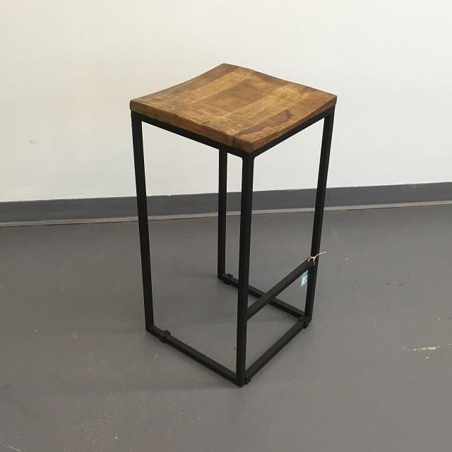 Iron Wood Stool on Nadeau Furniture Console