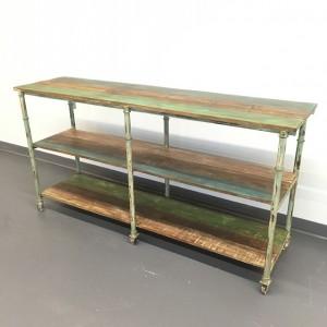 Iron/wood console