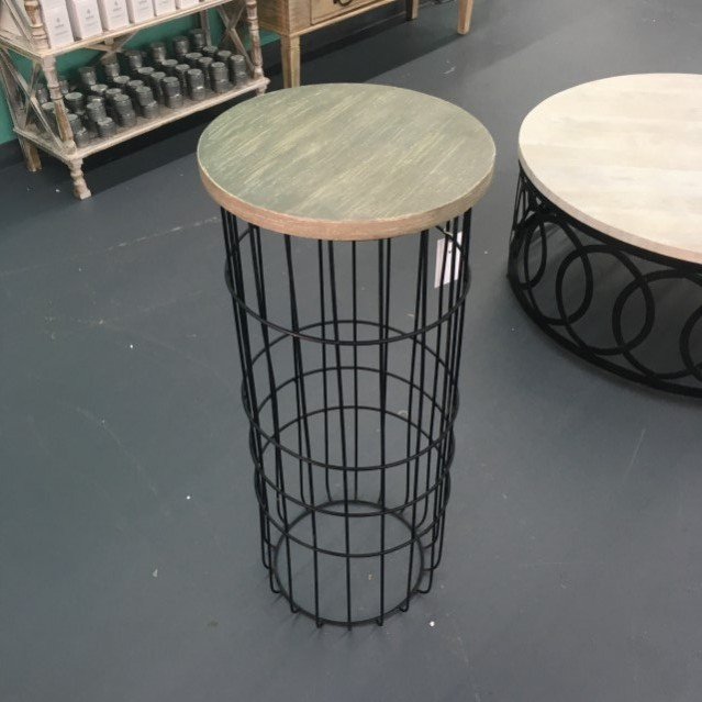 Wire Side Table Tall - Nadeau Tampa