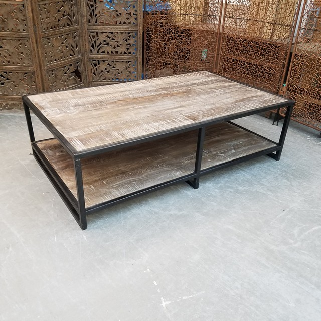 Superbe Coffee Table With Iron Base