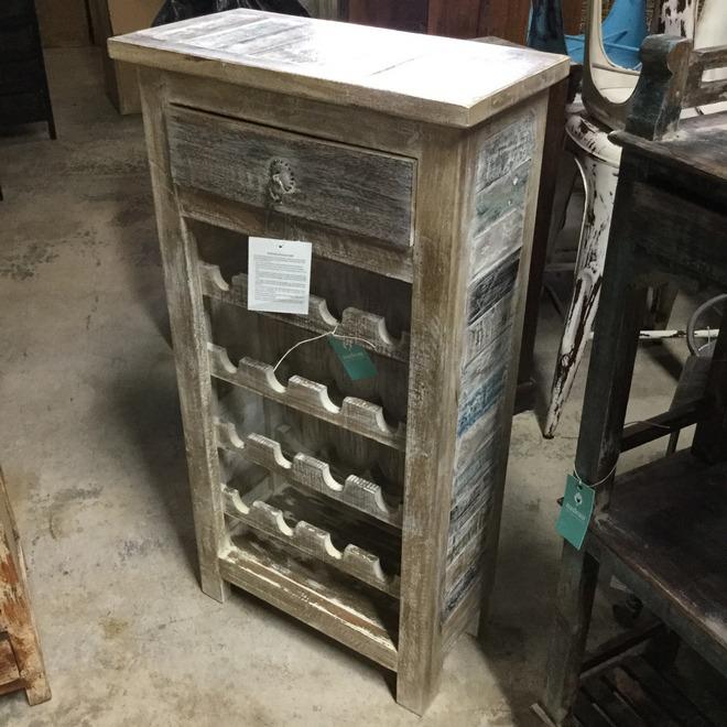 Reclaimed Wood Wine Rack Nadeau Miami