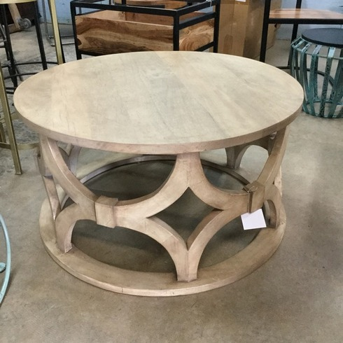Superior Carved Round Coffee Table