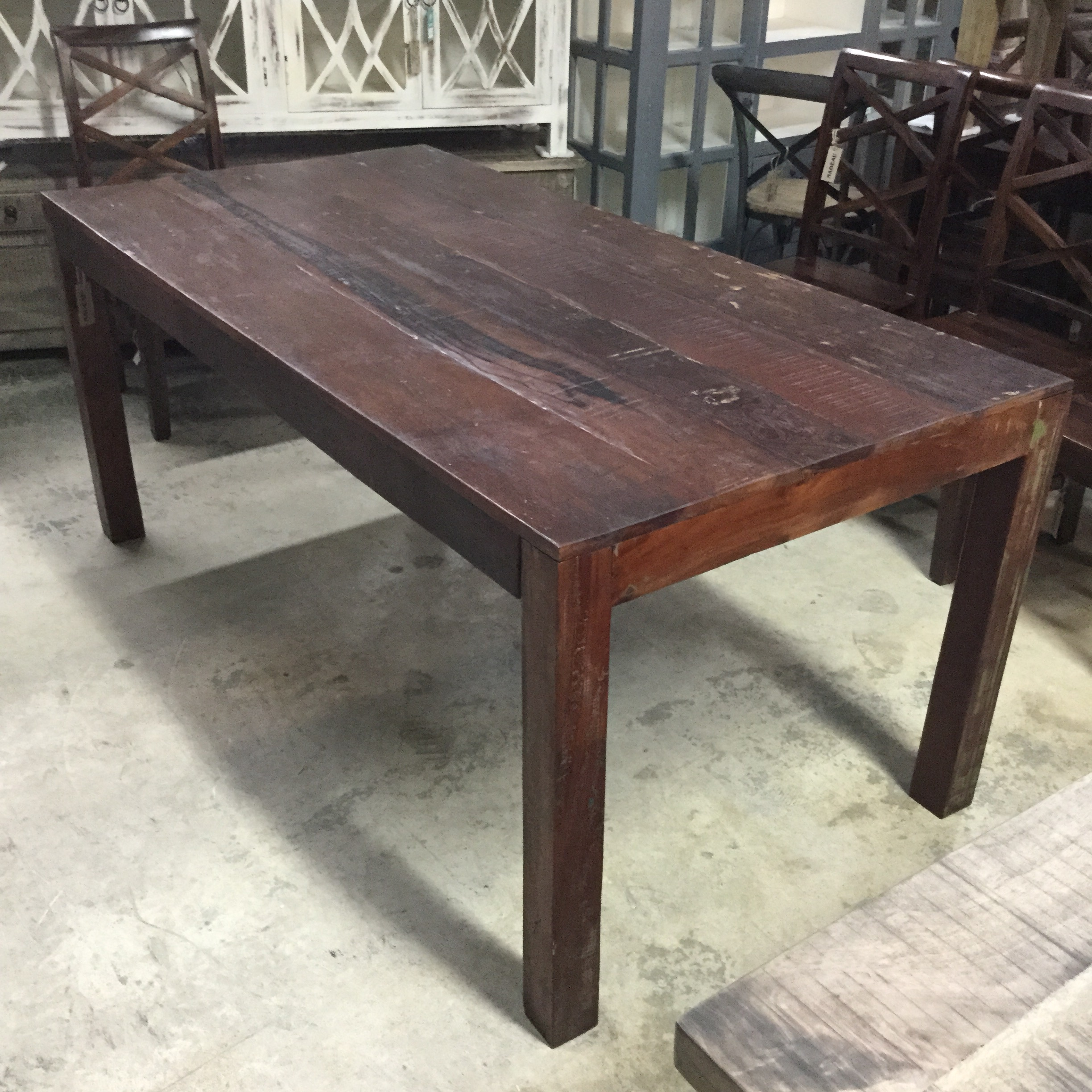 Reclaimed wood dining table nadeau miami for Portland reclaimed wood furniture