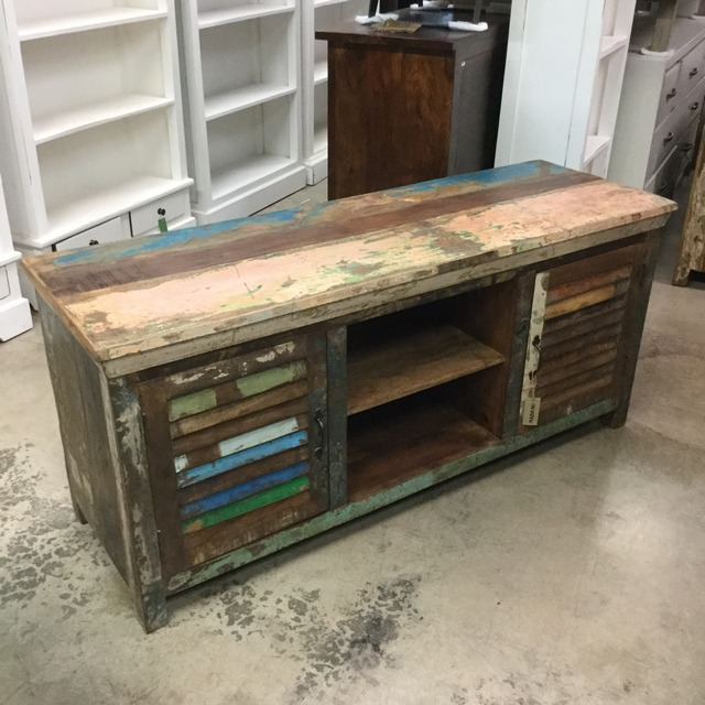 Reclaimed Wood T.V. Stand - Reclaimed Wood T.V. Stand - Nadeau Miami