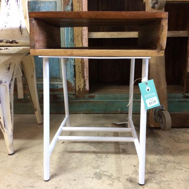 Reclaimed Wood Side Table - Reclaimed Wood Side Table - Nadeau Miami