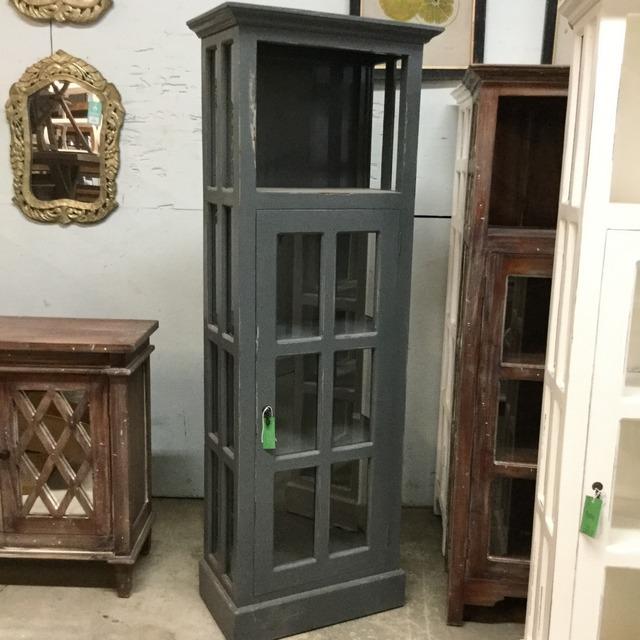 Narrow Cabinet with Glass Door - Nadeau Miami