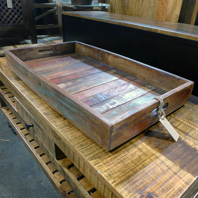 Reclaimed Wood Tray Nadeau Chicago