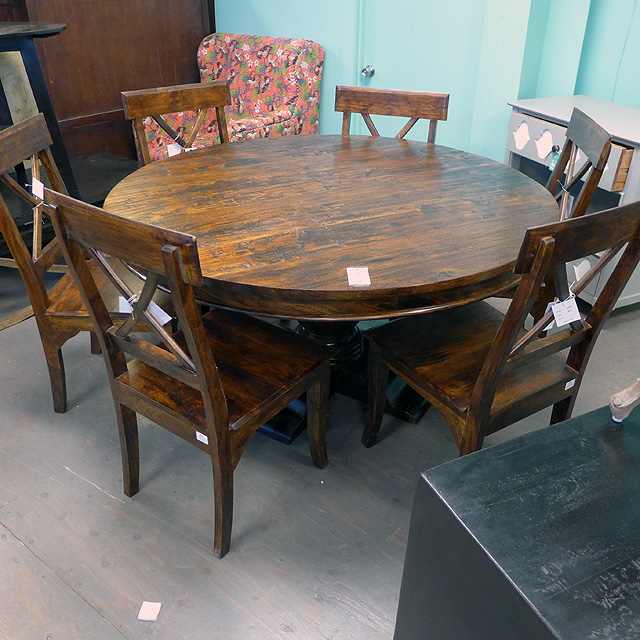 58 round dining table nadeau chicago