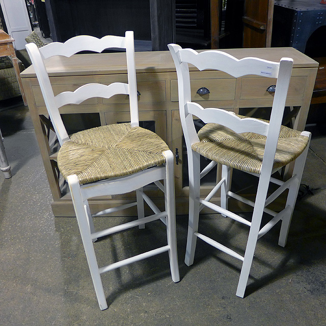 Bar Stool With Rush Seat Nadeau Chicago