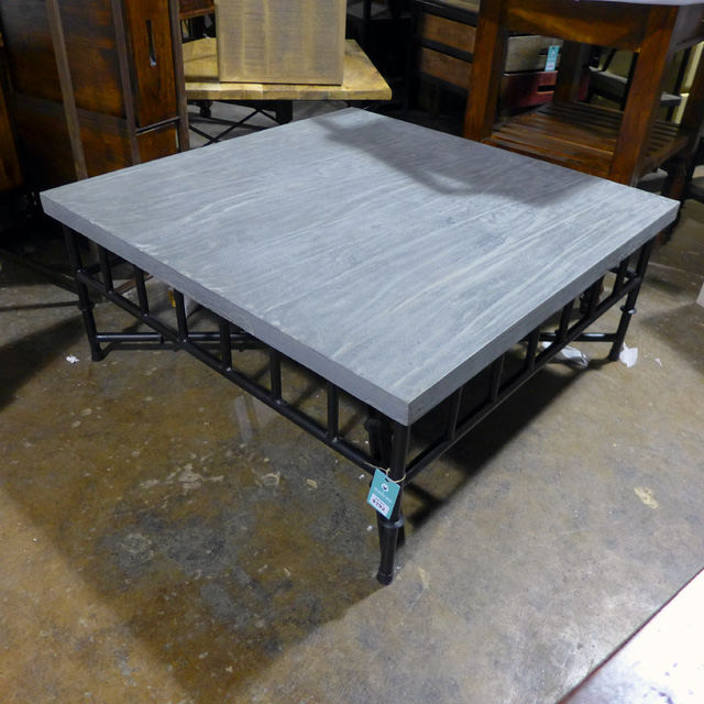 Iron Coffee Table Square Nadeau Chicago