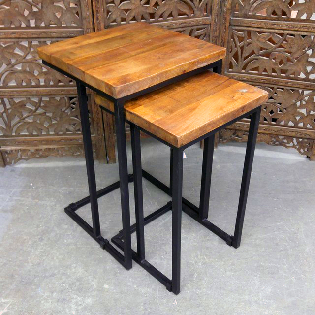 Iron And Wood Stools Nadeau Chicago