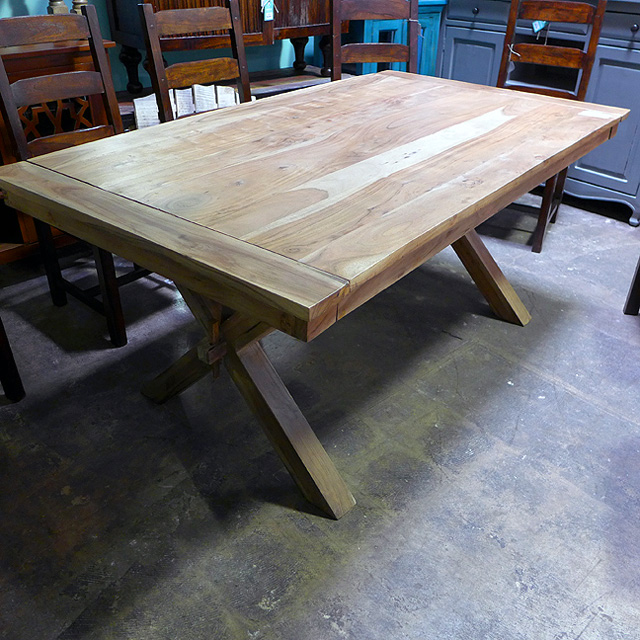 cross leg dining table nadeau chicago